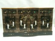 Oriental Furniture Black Lacquer Cabinet 60 Chinese Cupboards Credenza