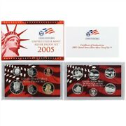 2005 S Proof Set Original Box And Coa 10 Coins 90 Silver Quarters Kennedy Us Mint