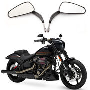 Black Motorcycle Rearview Mirrors For Harley Davidson Street Glide Breakout Cvo
