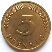5 Pfennig 1949 D In Proof Only 250 Minted Rare