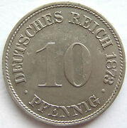 Top 10 Pfennig 1873 F In Extremely Fine / Brillant Uncirculated