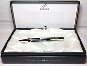 Parker Beautiful Duofold Black Mosaic Ball Pen New In Box Product Retired Model