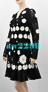 Dolce And Gabbana Nwt 5295 Daisy Embroidered Cordonetto Lace Dress 42 Sold Out