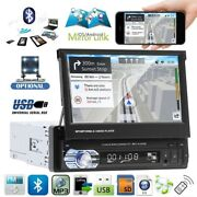 7 Touch Screen Car Mp5 Stereo Radio Single 1 Din Flip Out Bluetooth + Camera