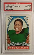 1972 Topps 273 John Brockington All-pro Psa 10 Gem Mint Packers Rare Pop 11