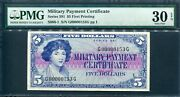 Usa 1961, Military Series 591, 5, S/n 153, S866,pmg 30 Epq Extremely Rare