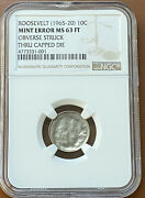 1965-2020 Roosevelt Dime Obv Struck Thru Capped Die Ngc Ms63ft Ms-63-ft Coin