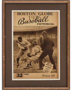 Babe Ruth 1936 Boston Globe Cover Framed - Extremely Rare 🔥incredible Image🔥