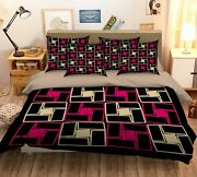 3d Red Square Pattern Ker1893 Bed Pillowcases Quilt Duvet Cover Double Kay