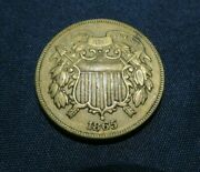 1865 Us 2 Cent Piece Choice Detail Au Free Shipping