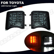 Smoked Lens Led Turn Signal Light /daytime Running 2-in-1 For Toyota Prius 09-11