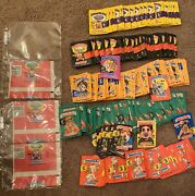 1985 Garbage Pail Kids Rare Sequential Miscut 1st Series Wax Pack Wrappers +lot
