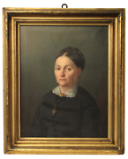 Giuseppe Molteni Attrib. 1800-1867 / Portrait Of Lady / Oil On Canvas/signed