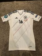 Adidas Dfb Germany Euro 2012 Player Match Issue Jersey Shirt Philip Lahm Techfit