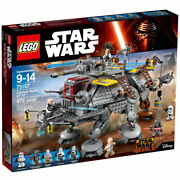 Lego 75157 Star Wars Captain Rexand039s At-te Building Toy 972pcs/pzs Rebels Figure