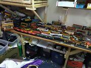 Huge Mixed Lot Ho Scale Train Cars,engines,track,buildingsandmore