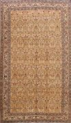Antique Floral Traditional Anatolian Turkish Area Rug Hand-knotted 7x9 Ft Carpet