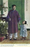 China Blind Chinese Bible-woman And Churchwarden 1930s Mission Postcard