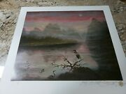 Numbered And Signed Serigraph By Brett-livingstone Strong Hidden Valley