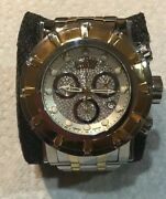 Limited Edition Mens 54mm Watch Grand S1 Reserve Two Tone Diamond Face