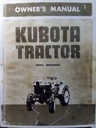 Kubota B6000 Diesel 4x4 And 2wd Farm Tractor Owner Operator And Parts Manual