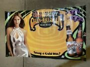 Rare Heidi Klum Coors Light Banner 3and039x5and039 Queen Of Halloween