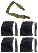 80 Brand New 7.62x39 10rd Steel Stripper Clips + Green Canvas Rifle Sling1