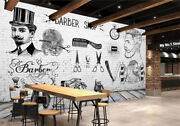3d Barber Shop S55 Wallpaper Mural Self-adhesive Removable Sticker Kids Sunday