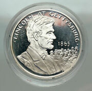 1986 United States President Lincoln Gettysburg Proof Silver Medal Coin I85107