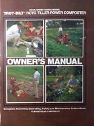 Troy-bilt Horse Roto Tiller Tractor Owners And Repair Manual 4-speed 82 Garden-way