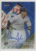 2017 Topps Finest Firsts Blue Wave Refractor /25 Aaron Judge Aj Rookie Auto