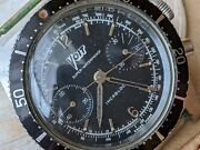 Vintage Voit Skin 666 Chronograph W/deep Patinadivers All Ss Caseruns Strong
