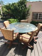 Round Dining Table Set For 5