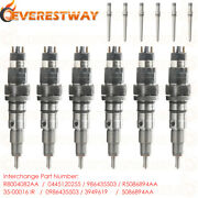 6 Xdiesel Injector For Dodge Ram Cummins With Connector Tube 5.9l 0986435503