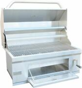 32 Inch Built In Stainless Steel Charcoal Bbq Grill With Temperature Gauge