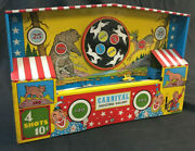 Carnival Shooting Gallery Tin Toy Ohio Art 1950's
