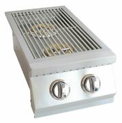 Built In Double Side Burner Stainless Steel With Removable Cover