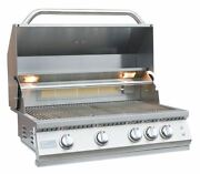 Professional 4 Burner 32 Inch Built In Bbq Grill With Lights And Ir Back Burner