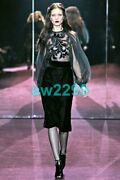 Nwt Most Wanted Embellished Runway Black Dress 40 New