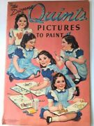 Vtg 1940 The Dionne Quints Pictures To Paint Coloring Book Merrill Publishing Co