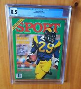 Sport Magazine 1984 Dickerson Cgc 8.5 First Cover None Higher Pop 1