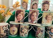 Vintage💎shirley Temple💎18 Collector Mugs Antique Danbury Mint 1930s Free Ship