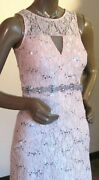 My Michelle Dress Gown Blush Pink Silver Lace Gems Cruise Prom Formal New Miss