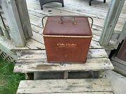Drink Cola 1950s Ice Chest Cooler Vintage Metal Signs Antique Collectible Retro