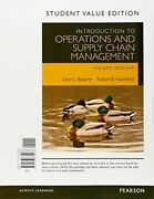 Introduction To Operations And Supply Chain Management Student Value Edition