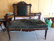 Antique Eastlake Victorian Love Seat - Settee - Sofa - Fireside - Couch - Chair