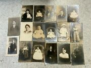 Lot Of Rppc Real Photo Postcards-men-women-babies-some Named