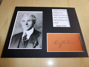 Henry Ford Quote Mounted Photograph And Preprint Autograph Signed