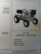 Sears Suburban St/12 Lawn Garden Tractor Owner Parts And Engine Manual 917.25733