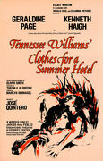 Clothes For A Summer Hotel 1980 Window Card For Tennessee Williams Play